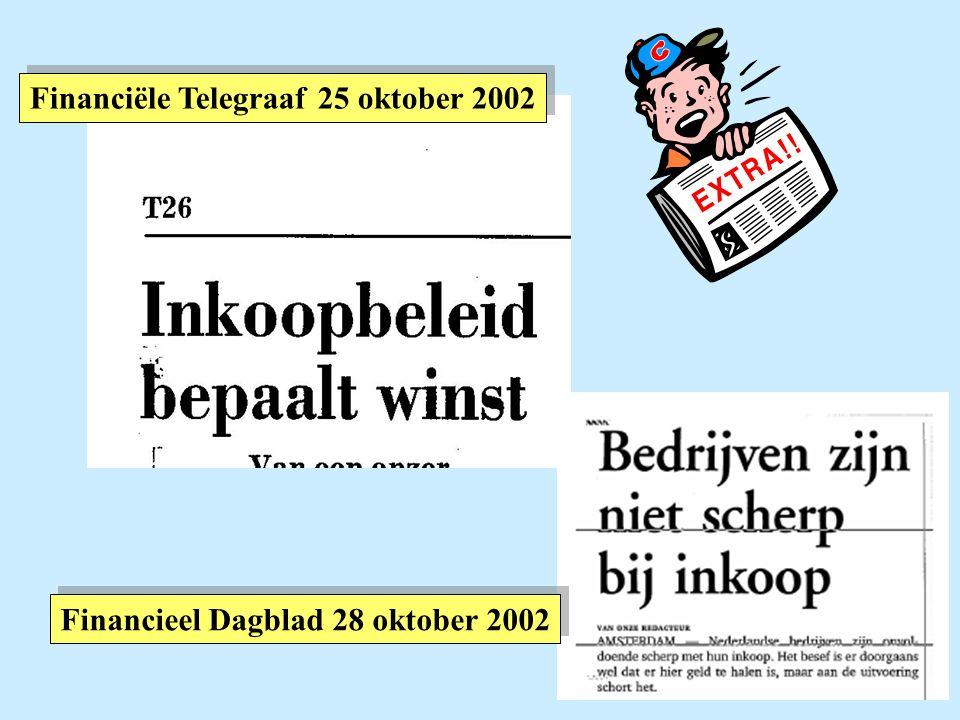 Financiële Telegraaf 25 oktober 2002 Financieel Dagblad 28 oktober 2002