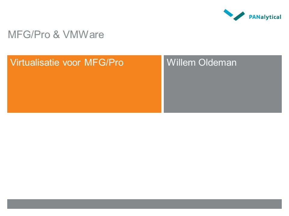 MFG/Pro & VMWare Virtualisatie voor MFG/ProWillem Oldeman