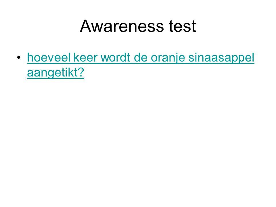Awareness test hoeveel keer wordt de oranje sinaasappel aangetikt?hoeveel keer wordt de oranje sinaasappel aangetikt?