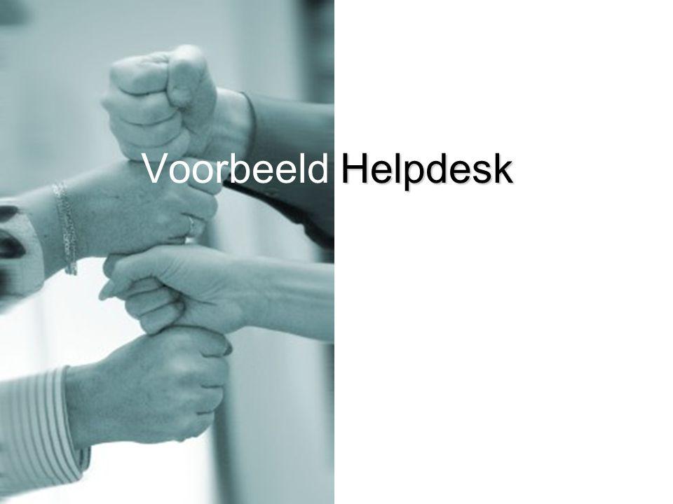 Helpdesk Voorbeeld Helpdesk