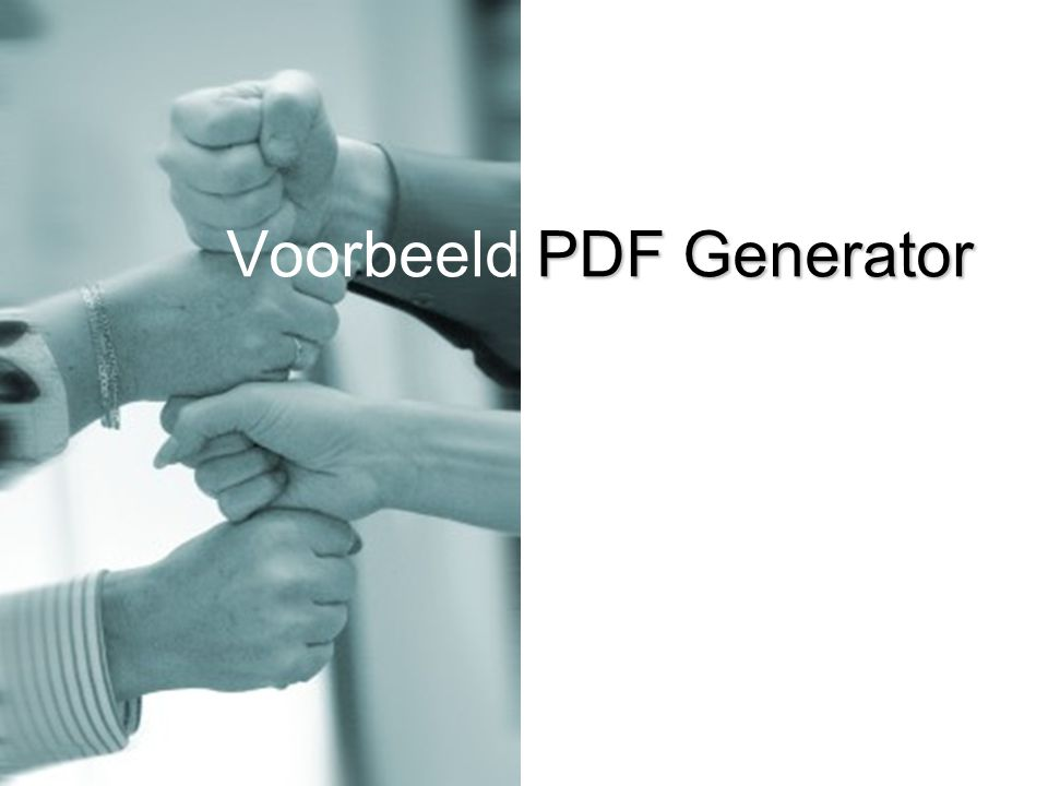 PDF Generator Voorbeeld PDF Generator
