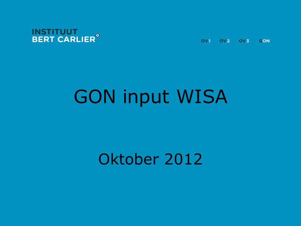 GON input WISA Oktober 2012