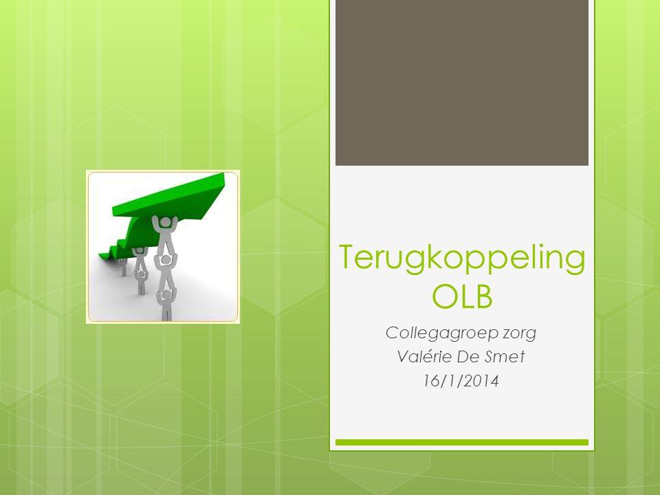 Terugkoppeling OLB Collegagroep zorg Valérie De Smet 16/1/2014