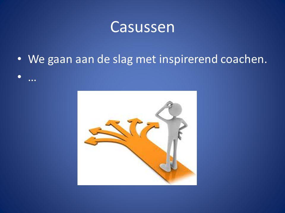 Casussen We gaan aan de slag met inspirerend coachen. …