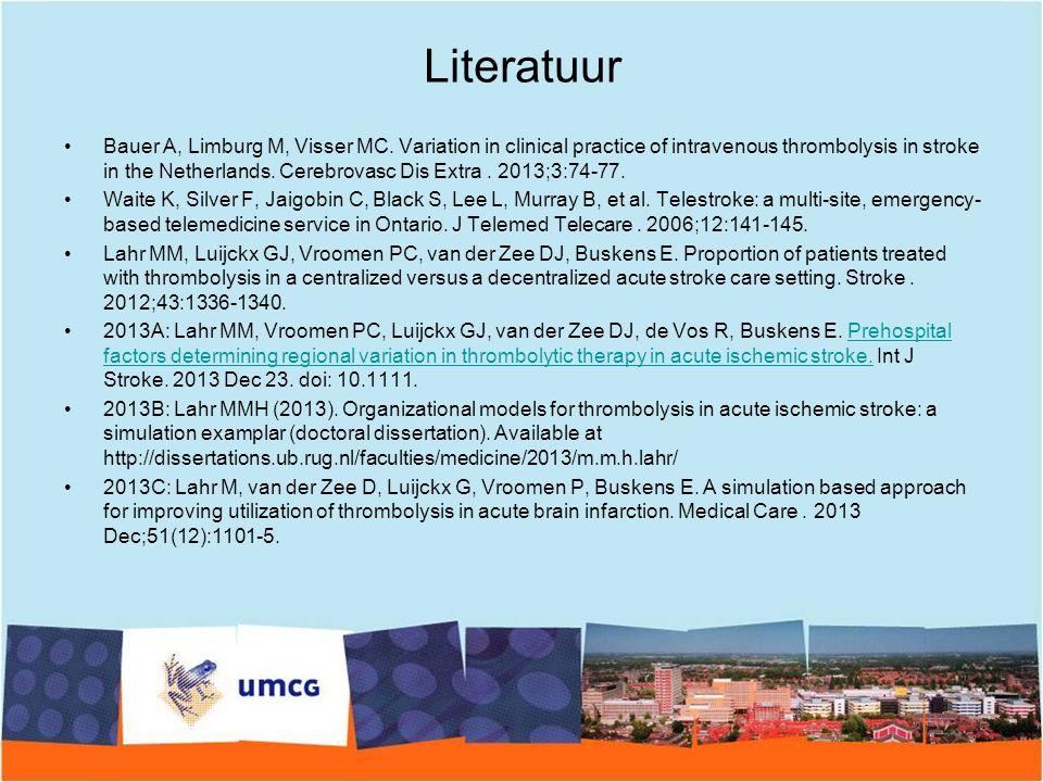 Literatuur Bauer A, Limburg M, Visser MC.