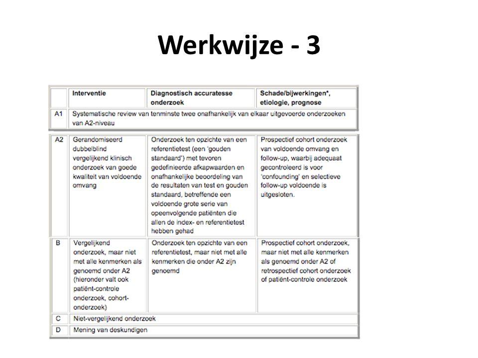 Werkwijze - 3