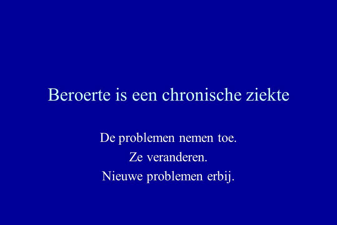 Beroerte is een chronische ziekte De problemen nemen toe. Ze veranderen. Nieuwe problemen erbij.
