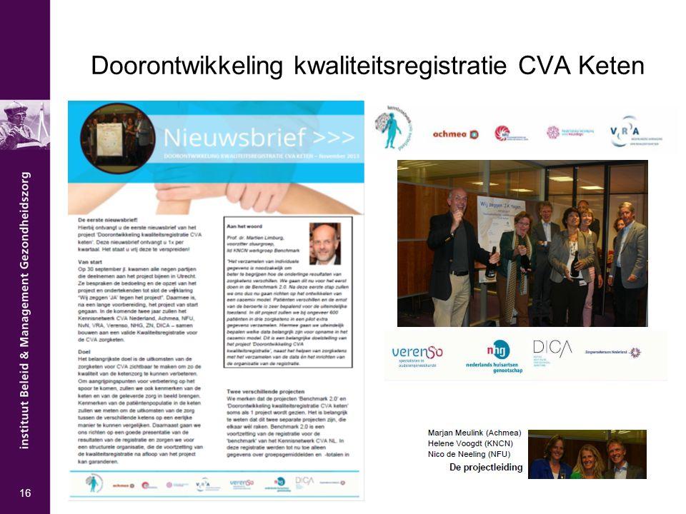 Doorontwikkeling kwaliteitsregistratie CVA Keten 16