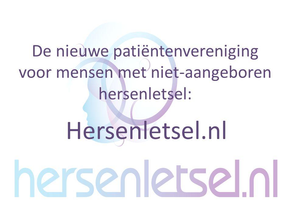 Hersenletsel.nl De nieuwe patiëntenvereniging voor mensen met niet-aangeboren hersenletsel: