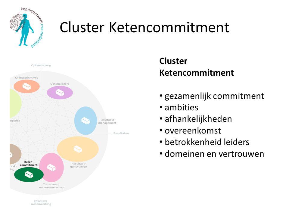 Cluster Ketencommitment Cluster Ketencommitment gezamenlijk commitment ambities afhankelijkheden overeenkomst betrokkenheid leiders domeinen en vertrouwen
