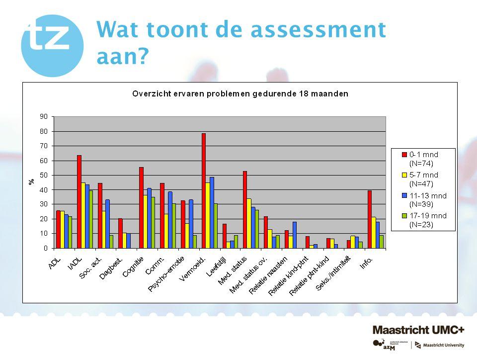 Wat toont de assessment aan?