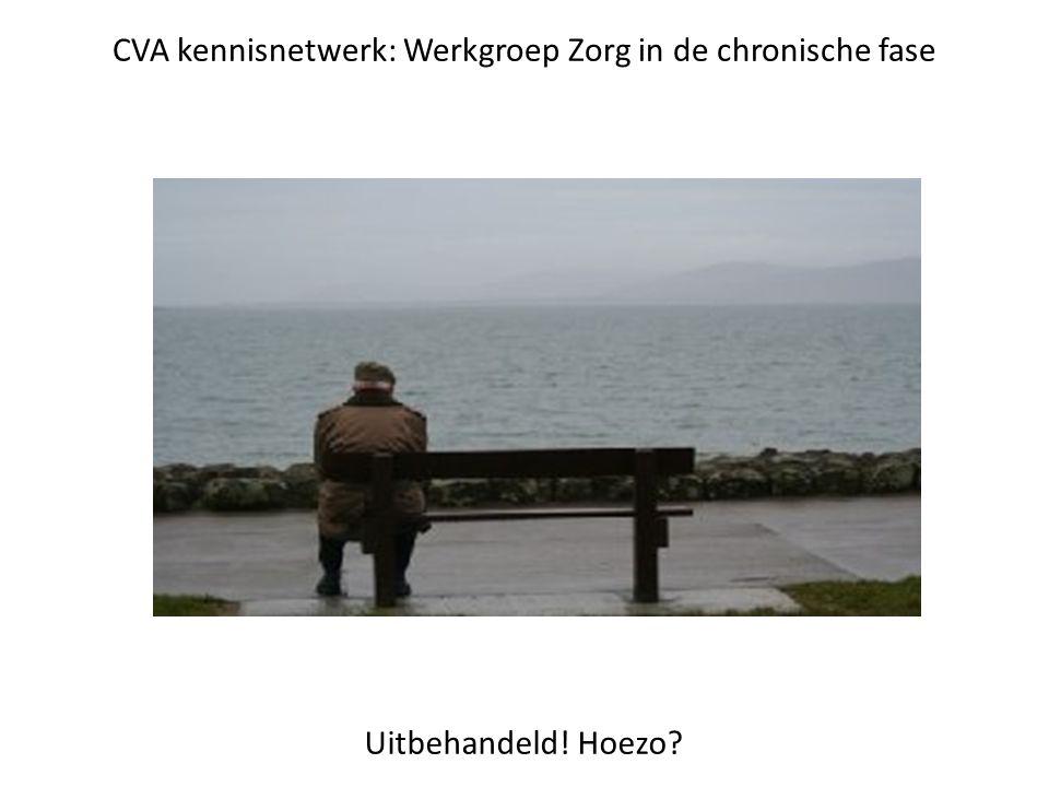 CVA kennisnetwerk: Werkgroep Zorg in de chronische fase Uitbehandeld! Hoezo?
