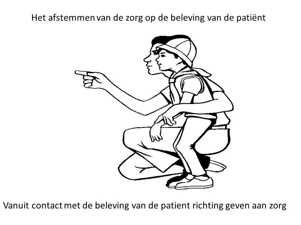 Het afstemmen van de zorg op de beleving van de patiënt Vanuit contact met de beleving van de patient richting geven aan zorg