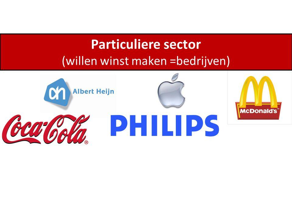Particuliere sector (willen winst maken =bedrijven)