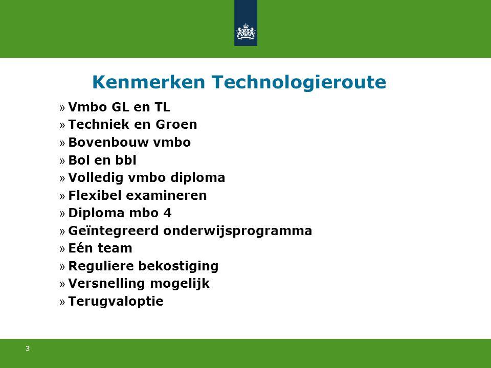 3 Kenmerken Technologieroute » Vmbo GL en TL » Techniek en Groen » Bovenbouw vmbo » Bol en bbl » Volledig vmbo diploma » Flexibel examineren » Diploma