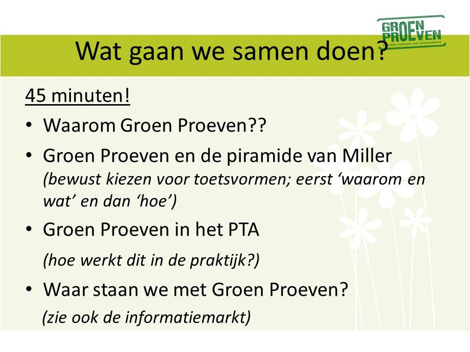 Tot slot, wist u dat Groen Proeven dit jaar… Een leergang uitvoert voor > 130 docenten en hun teamleiders.