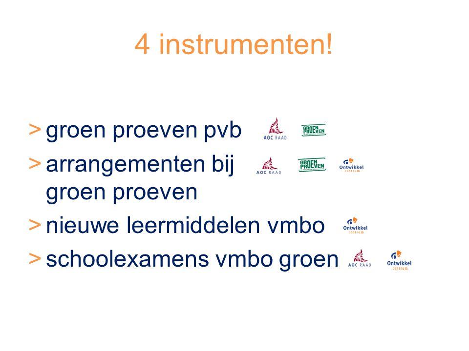 Arrangementen groen proeven pvb wat: >voorbereiding op (30) groen proeven pvb >beheerst leerling.