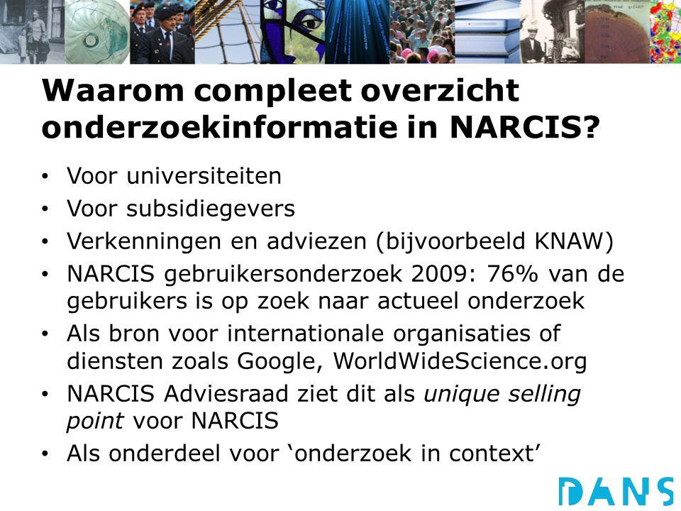 Waarom compleet overzicht onderzoekinformatie in NARCIS.