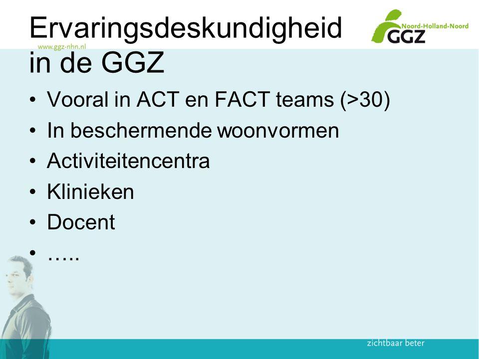 VS In 2008 meer groepen, programma's en organisaties gerund door en voor mensen met een SMI dan traditionele GGZ organisatie (2 : 1) SAMSHA