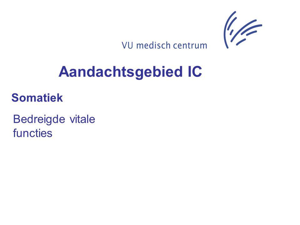 Somatiek Bedreigde vitale functies Aandachtsgebied IC