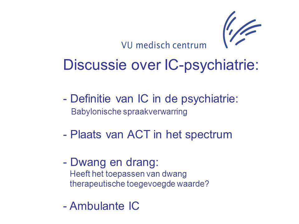 Intensive Care: Voortdurende bewaking van en behandeling van zeer ernstig zieke patiënten waarbij steeds bepaalde toestellen ingeschakeld zijn zoals: beademingsapparaten (Van Dale).