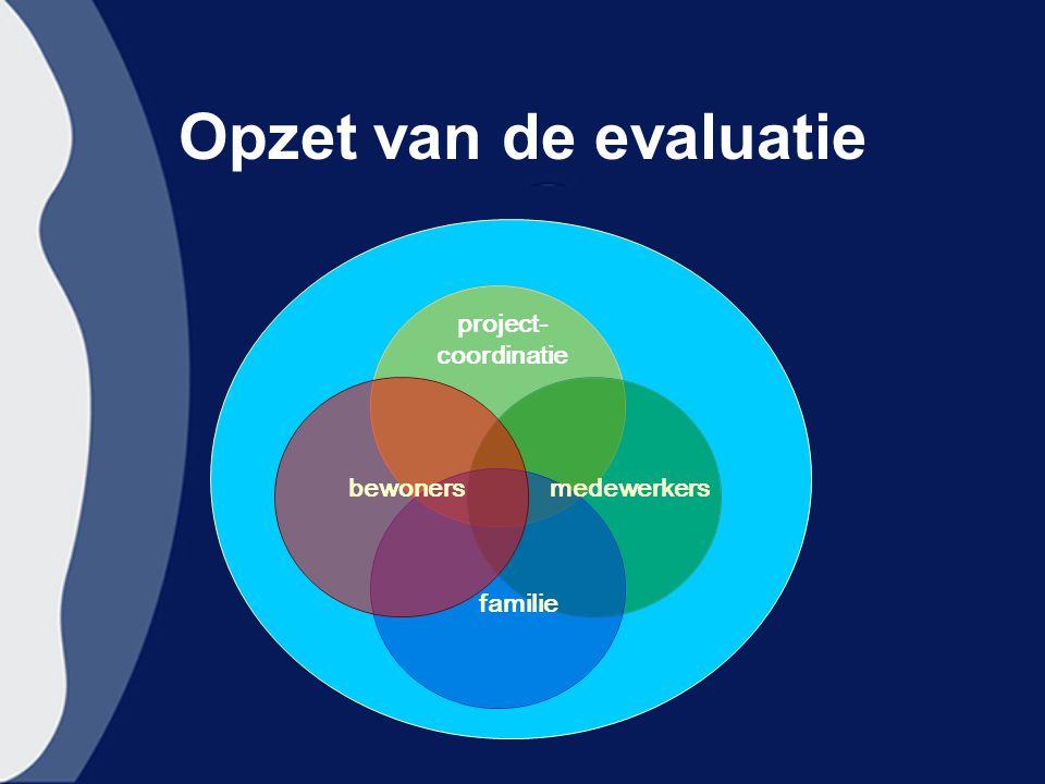 Opzet van de evaluatie bewoners familie medewerkers project- coordinatie