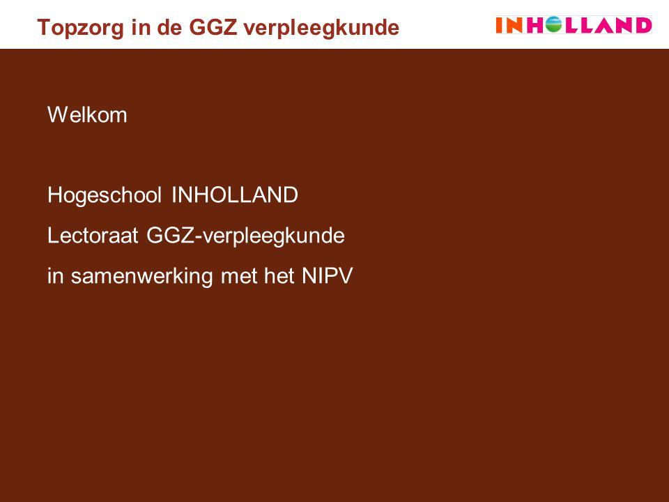 Welkom Hogeschool INHOLLAND Lectoraat GGZ-verpleegkunde in samenwerking met het NIPV