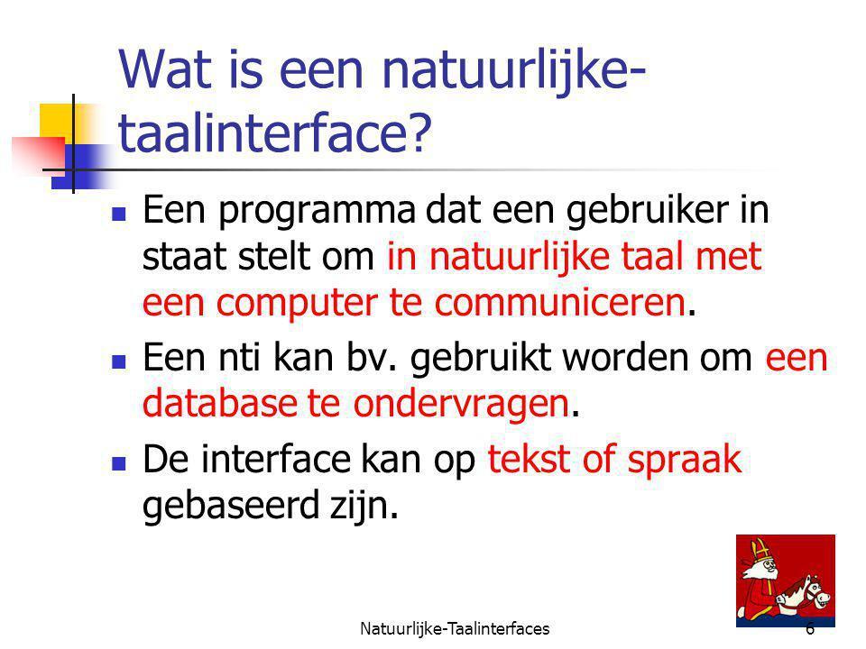 Natuurlijke-Taalinterfaces6 Wat is een natuurlijke- taalinterface.