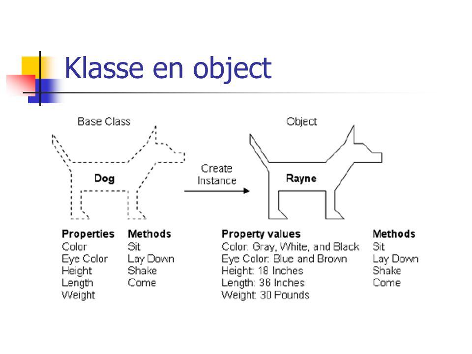Klasse en object