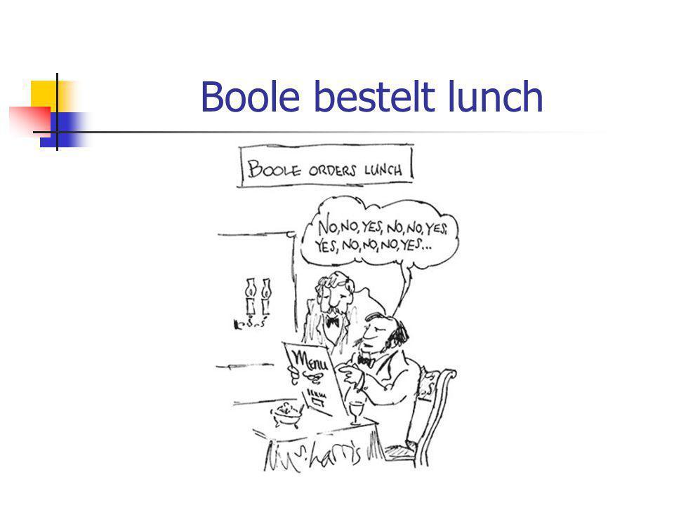 Boole bestelt lunch