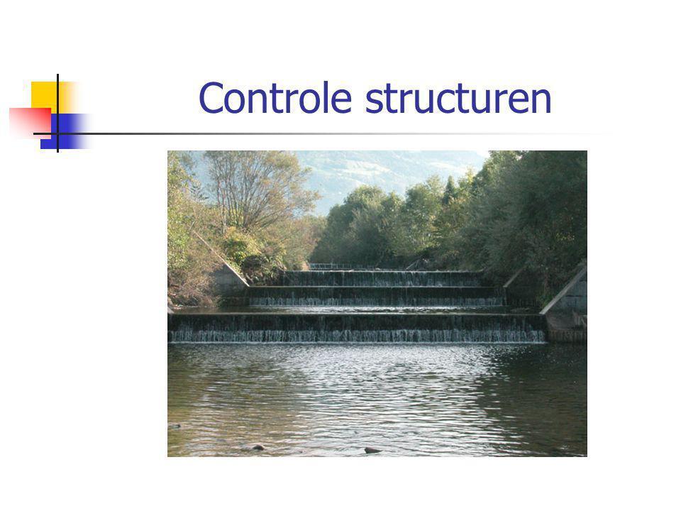 Controle structuren