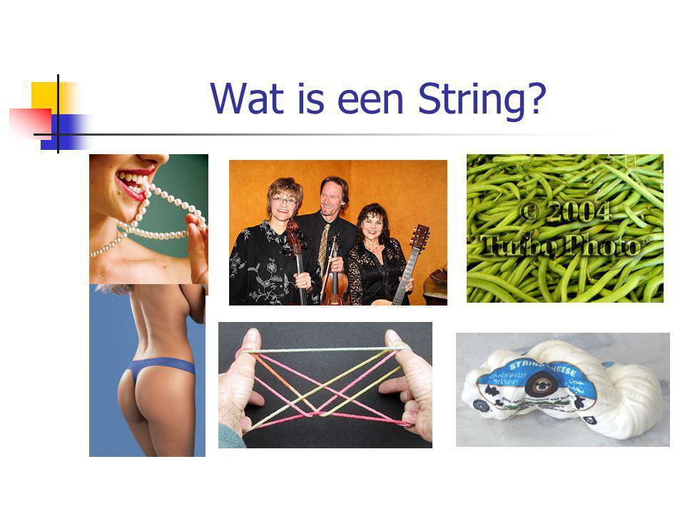 Wat is een String in programmeercontext.