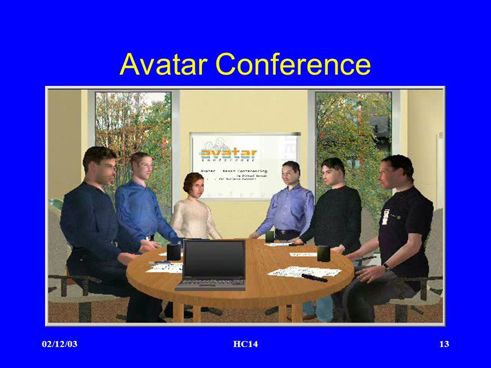 02/12/03HC1413 Avatar Conference
