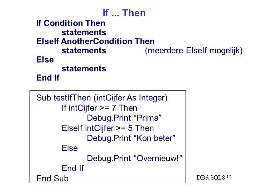 DB&SQL8- 12 If...