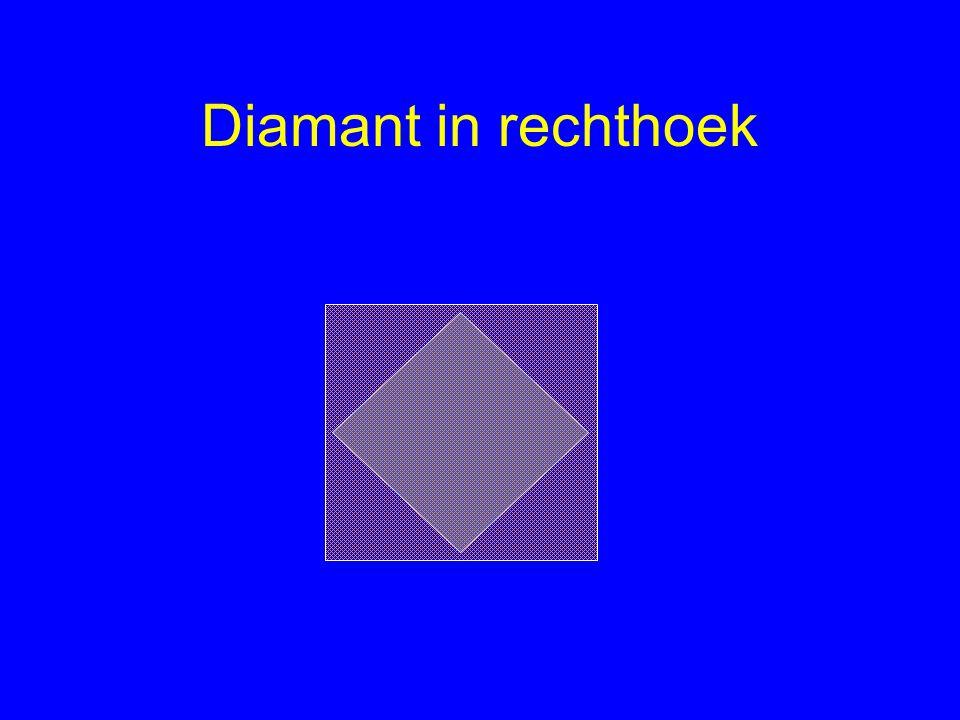 Diamant in rechthoek