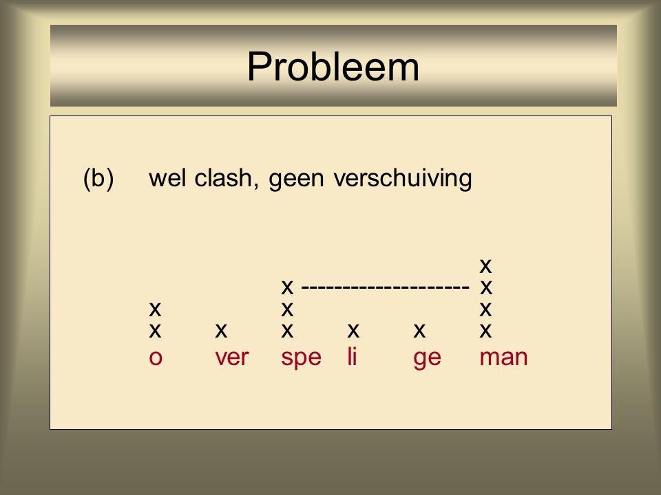 (a)geen clash, toch verschuiving x xx xxxx ameri kaan Probleem data: perfectionist, kaleidoscoop, Ticonderoga