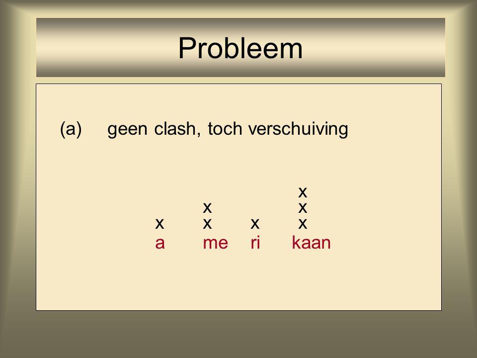 (a)geen clash, toch verschuiving x xx xxxx ameri kaan Probleem