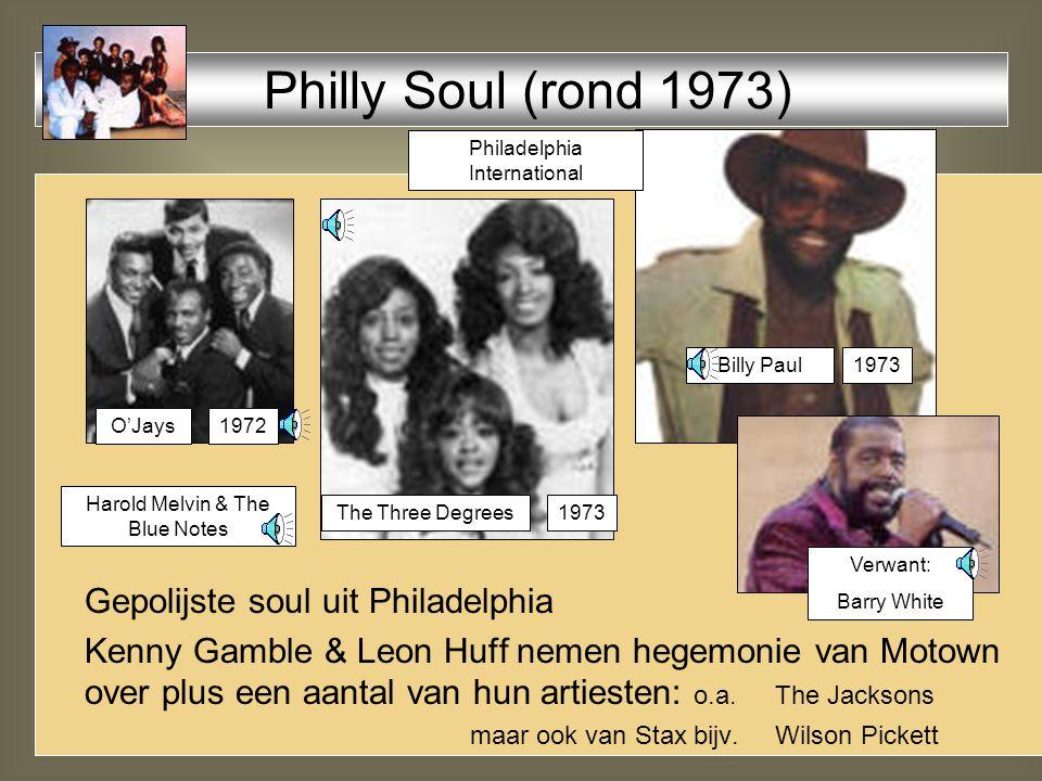 Gepolijste soul uit Philadelphia Kenny Gamble & Leon Huff nemen hegemonie van Motown over plus een aantal van hun artiesten: o.a.