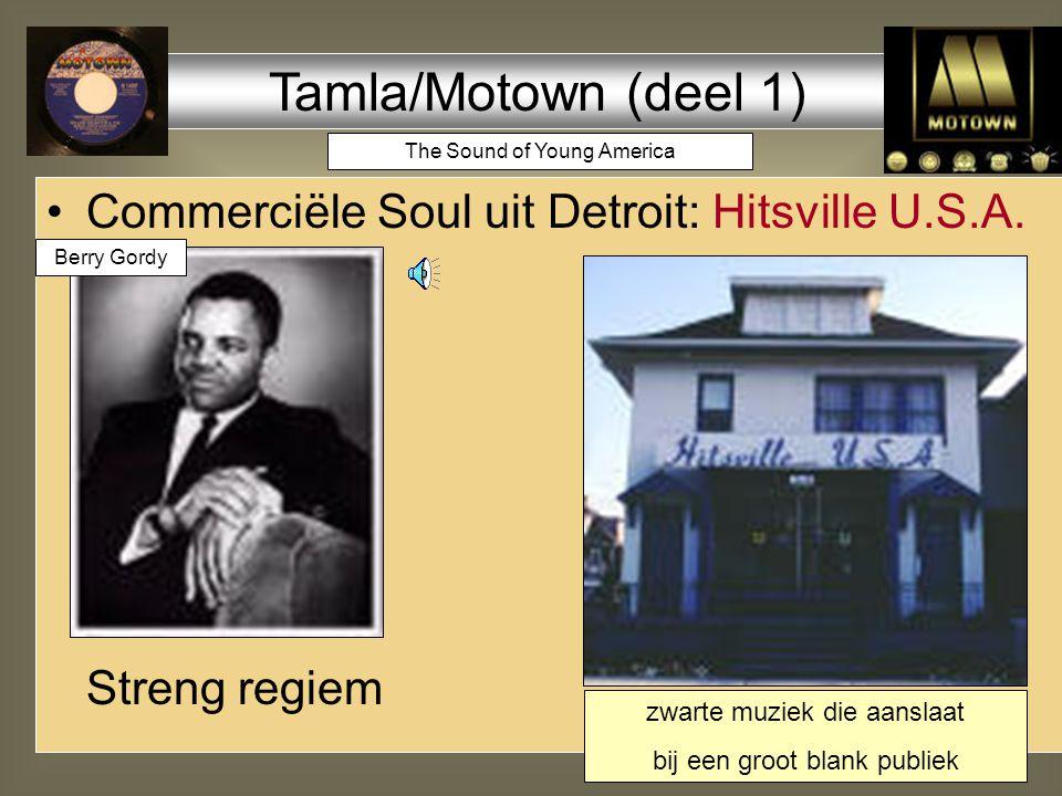 1965 moord op Malcolm X 1968 moord op Martin Luther King einde van de eerste optimistische soul-golf; meeste hit-artiesten verdwijnen; soul wordt grimmiger Nina Simone - Backlash Blues James Brown - Say it loud zelfs Motown: Edwin Starr - War Marvin Gaye - What's going on 1968 Martin Luther King Nina Simone 1968 1970 1971