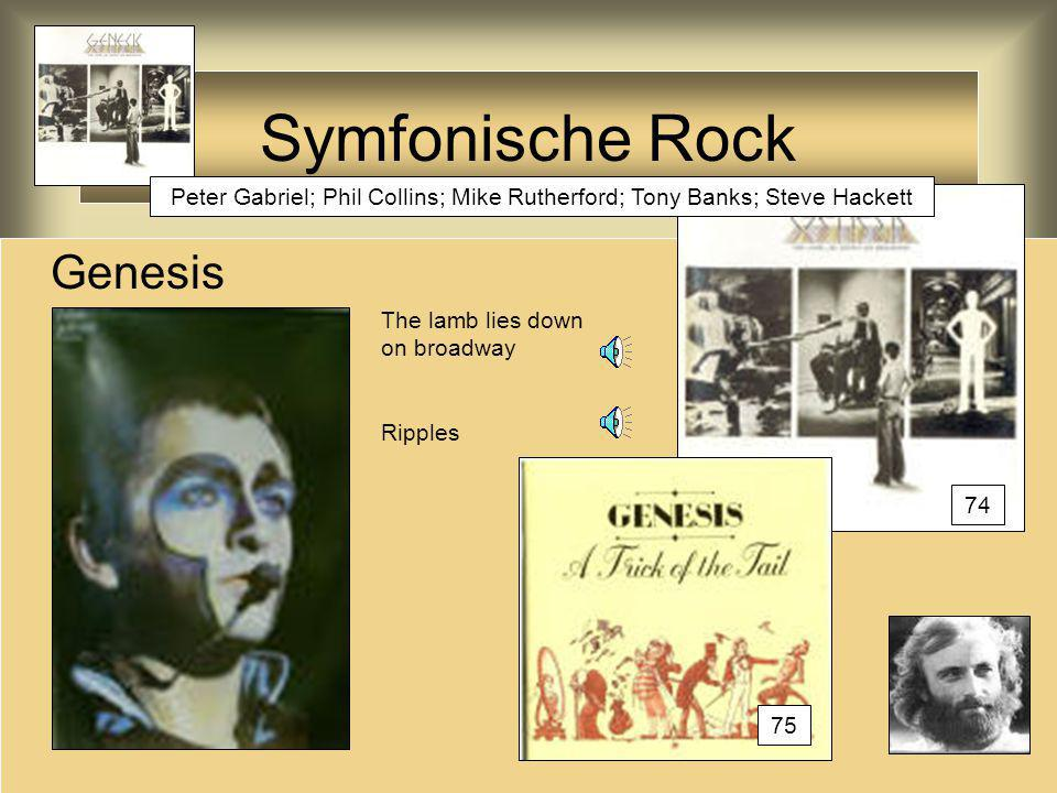 Symfonische Rock Genesis The lamb lies down on broadway Ripples 74 75 Peter Gabriel; Phil Collins; Mike Rutherford; Tony Banks; Steve Hackett