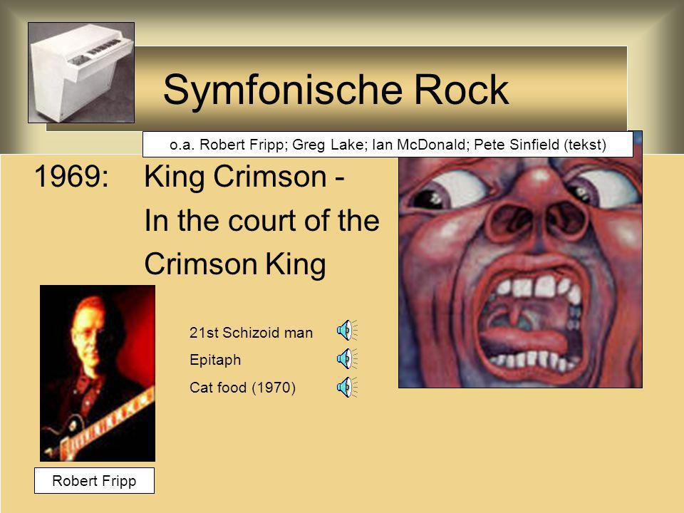 Symfonische Rock Nice ELP America Lucky man Pictures at an exhibition Peter Gunn 67 70 71 80 Keith Emerson; Greg Lake; Carl Palmer Uit West Side Story; live werd de Amerikaanse vlag verbrand