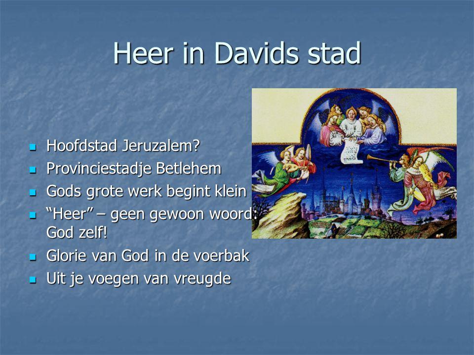 Heer in Davids stad Hoofdstad Jeruzalem.Hoofdstad Jeruzalem.