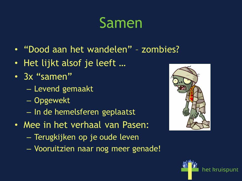 Samen Dood aan het wandelen – zombies.