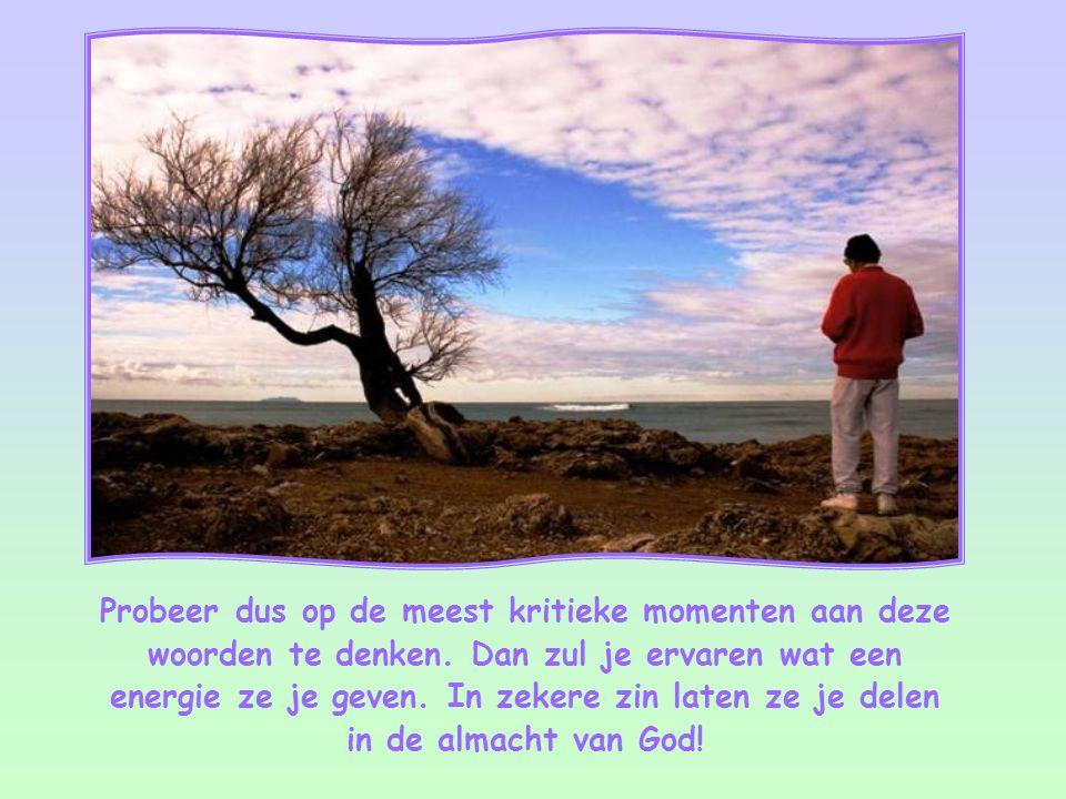 """""""Voor God is niets onmogelijk."""" Lucas 1,37"""