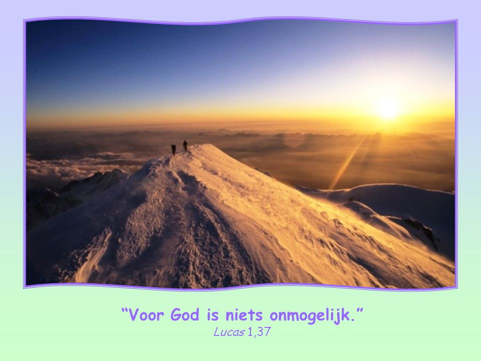 Maar wel op voorwaarde dat we de wil van God doen en proberen om de liefde die God in ons hart heeft gelegd door te geven aan de mensen om ons heen. O