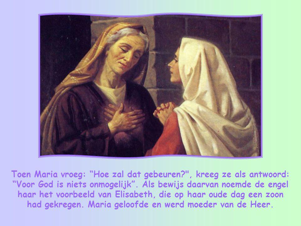 In het evangelie van Lucas lezen we dat de engel Gabriël aan Maria de boodschap bracht dat uit haar Jezus geboren zou worden.