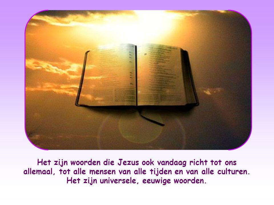 Jezus is verrezen en leeft. En ook al werden zijn woorden uitgesproken in het verleden, ze zijn niet alleen maar herinnering.
