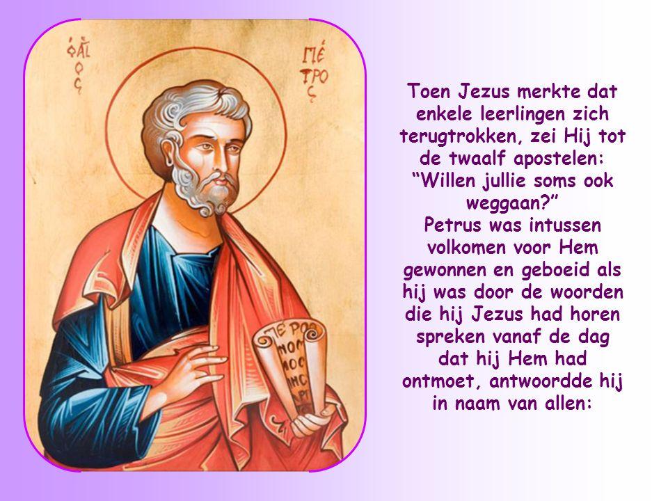 """""""Dit zijn harde woorden"""", zeiden enkele leerlingen tegen Jezus nadat Hij had gezegd dat Hij zijn lichaam als spijs zou geven en zijn bloed als drank."""