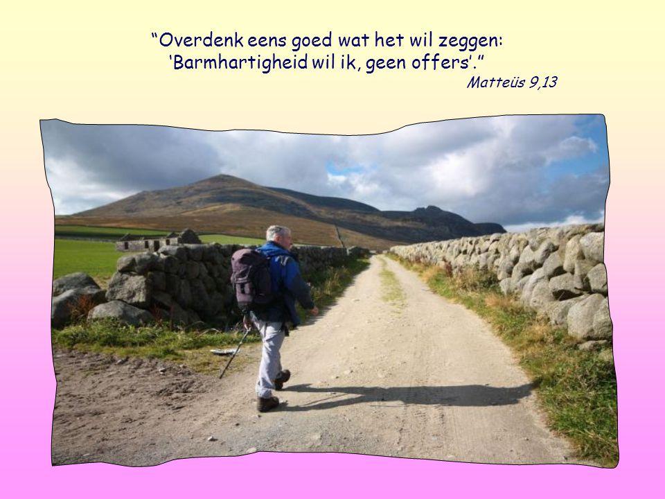 Overdenk eens goed wat het wil zeggen: 'Barmhartigheid wil ik, geen offers'. Matteüs 9,13