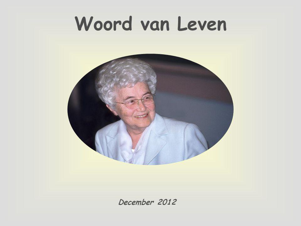 Woord van Leven December 2012